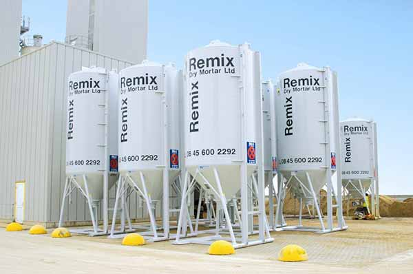Multiple Remix Silos Wythall Roofing Centre